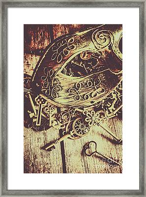 Guarding The Secrets Of Society Framed Print