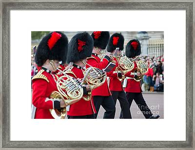 guards band at Buckingham palace Framed Print by Andrew  Michael