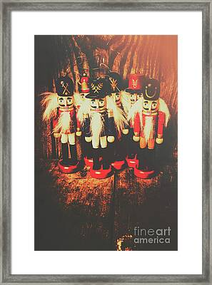 Guards Of The Toy Box Framed Print