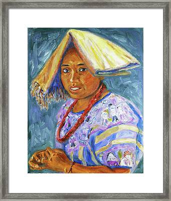 Framed Print featuring the painting Guatemala Impression II by Xueling Zou