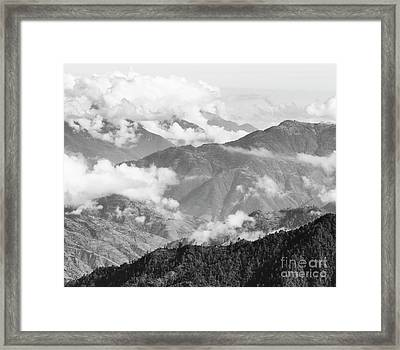 Framed Print featuring the photograph Guatemala Mountain Landscape Black And White by Tim Hester