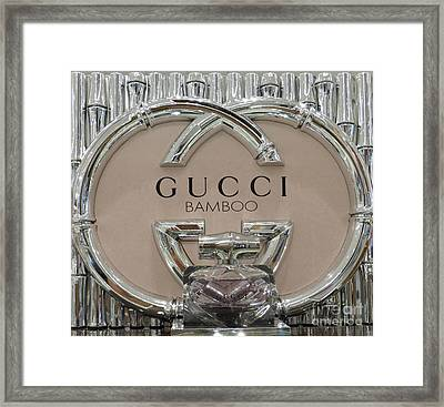 Gucci Bamboo Framed Print by To-Tam Gerwe