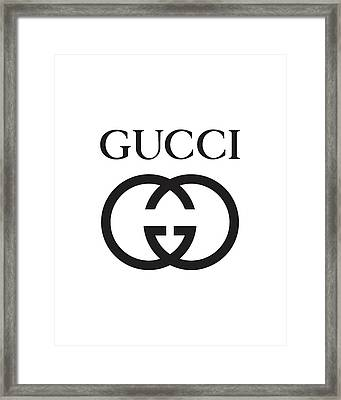 Gucci - Black And White Framed Print