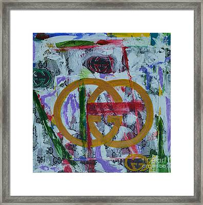 Gucci Logo Framed Print by To-Tam Gerwe