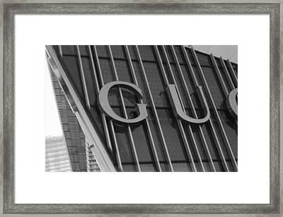 Gucci Vegas Framed Print