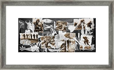 Guernica-collage Framed Print by Daniela Constantinescu