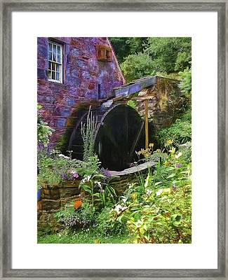Guernsey Moulin Or Waterwheel Framed Print