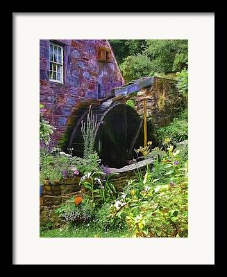 Water Flowing Mixed Media Framed Prints