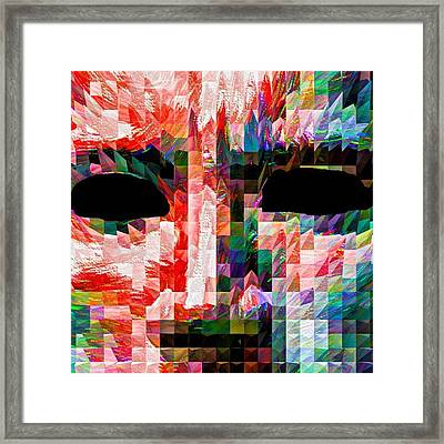 Guess This Person. Do You Know Who It Framed Print by David Haskett