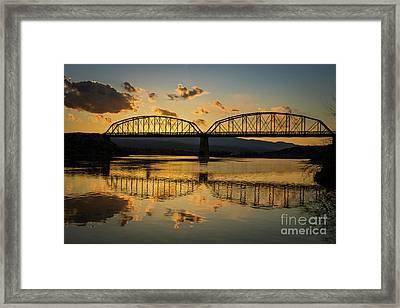 Guffey Bridge At Sunset Idaho Journey Landscape Photography By Kaylyn Franks Framed Print by Kaylyn Franks
