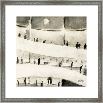 Guggenheim Inside Framed Print by Beverly Brown