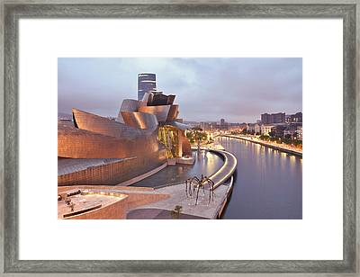 Guggenheim Museum Bilbao Spain Framed Print by Marek Stepan