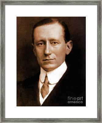 guglielmo Marconi, Inventor by Mary Bassett Framed Print by Mary Bassett