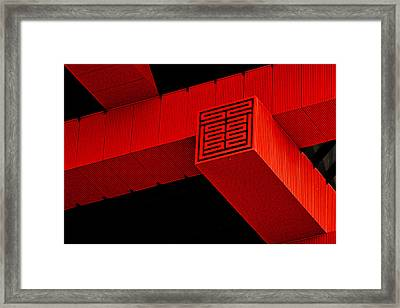 Gugong - Forbidden City Red - Chinese Pavilion Shanghai Framed Print by Christine Till