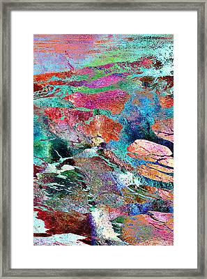 Guided By Intuition - Abstract Art - Triptych 1 Of 3 Framed Print
