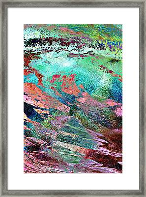 Guided By Intuition - Abstract Art - Triptych 2 Of 3 Framed Print