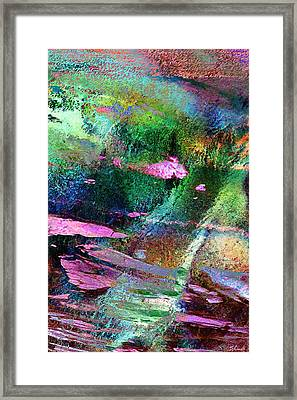 Guided By Intuition - Abstract Art - Triptych 3 Of 3 Framed Print
