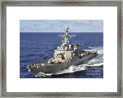 Guided-missile Destroyer Uss Hopper Framed Print by Stocktrek Images