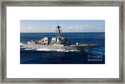 Guided-missile Destroyer Uss Wayne E Framed Print by Stocktrek Images