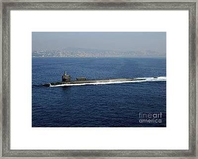 Guided-missile Submarine Uss Georgia Framed Print by Stocktrek Images