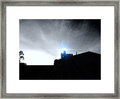 Guiding Light-alcatraz Framed Print
