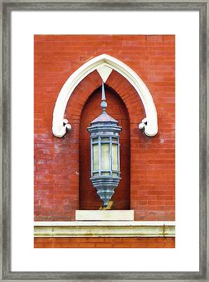 Guiding Light At The Mother Church Framed Print by Sandy MacGowan