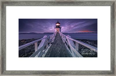 Guiding Light Framed Print by Marco Crupi