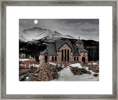 Guiding Light Over Saint Malo Framed Print by Stephen  Johnson