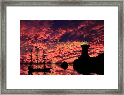 Guiding The Way Framed Print by Shane Bechler