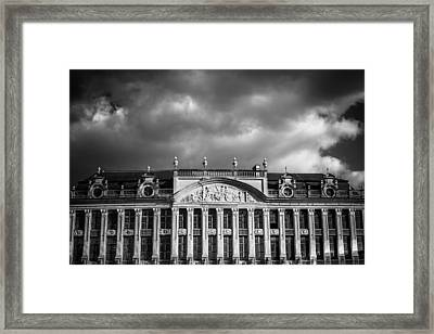 Guild Houses Mono Framed Print by Chris Fletcher