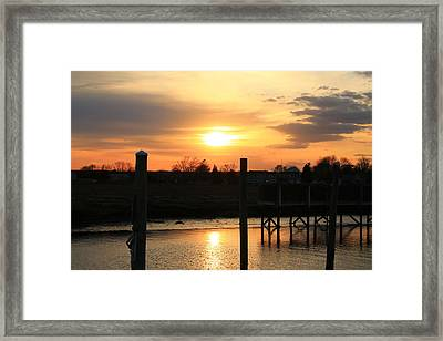 Guilford Low Tide Framed Print