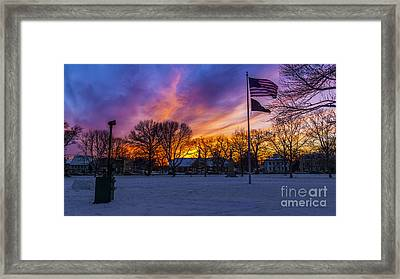 Guilford, Connecticut. Framed Print