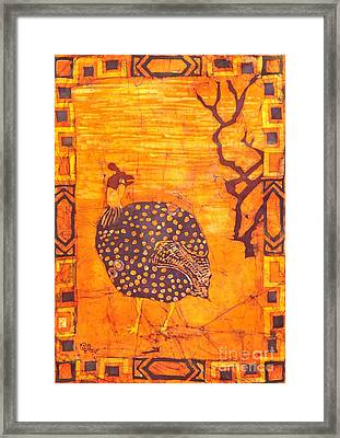 Guinea Fowl Framed Print by Caroline Street