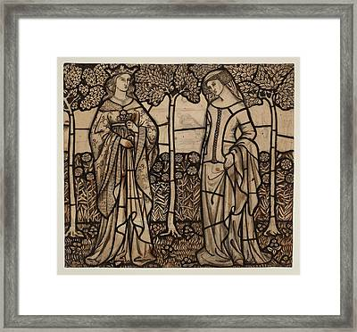 Guinevere And Iseult Framed Print by William Morris