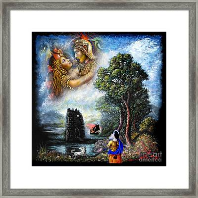 Guinevere And Lancelot Framed Print by Tighe O'DonoghueRoss