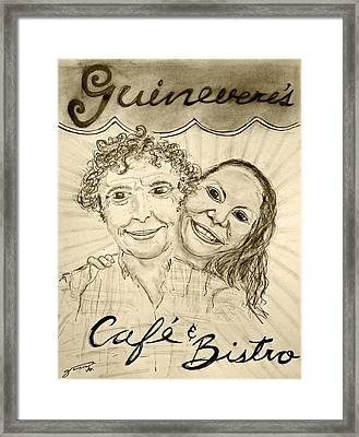 Guinevere's Cafe And Bistro Framed Print