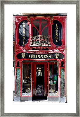 Framed Print featuring the photograph Guinness Beer 5 by Andrew Fare