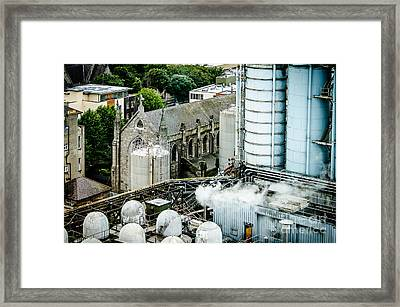 Guinness Brewery And St James Church In Dublin Framed Print