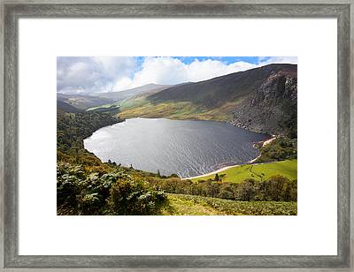 Guinness Lake In Wicklow Mountains  Ireland Framed Print