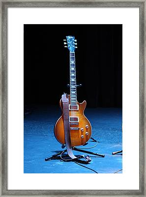 Guitar Blue Framed Print by Lauri Novak