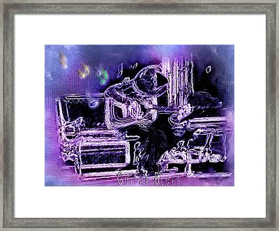 Framed Print featuring the photograph Guitar Blues by Susan Kinney