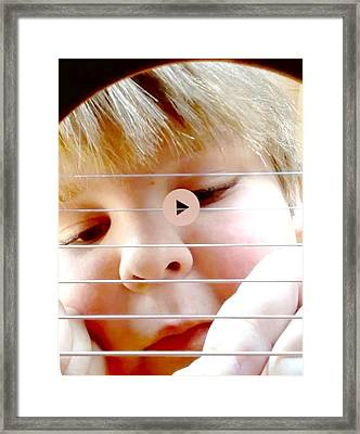 Guitar Boy Framed Print by Cadence Spalding