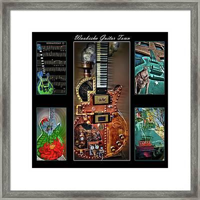 Guitar City Framed Print by Deborah Klubertanz