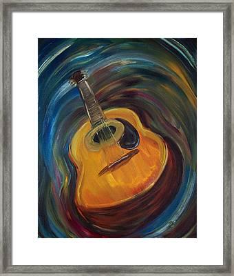 Guitar Framed Print by Clemens Greis