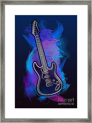 Guitar Craze Framed Print