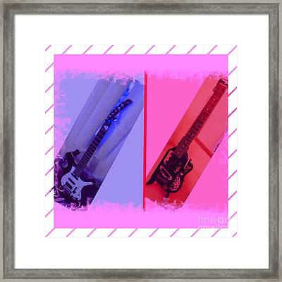 Guitar Dual Framed Print