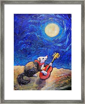 Guitar Ferret Framed Print
