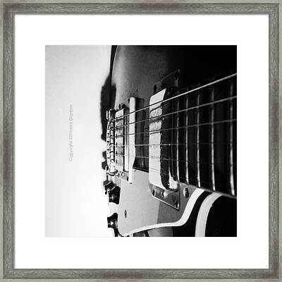 The Guitar  Framed Print by Steven  Digman