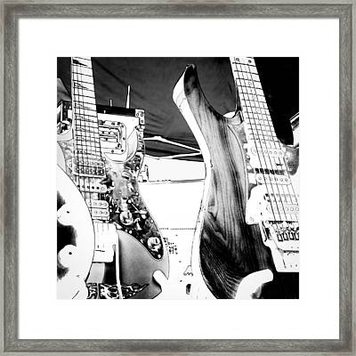 Guitar Group Framed Print by David Patterson