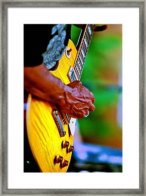 Guitar Hand Framed Print